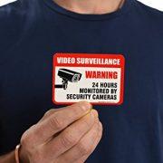 6-Pack-Video-Surveillance-Sign-Decal-Self-Adhesive-2-X-3-4-Mil-Vinyl-Decal-Indoor-Outdoor-Use-UV-Protected-Waterproof-Sleek-Rounded-Corners-0-3