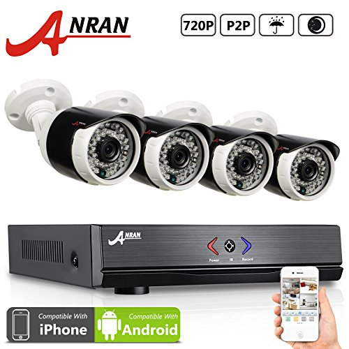 ANRAN-4CH-720P-AHD-DVR-Video-Surveillance-Camera-System-with-4-720P-1800TVL-OutdoorIndoor-36-IR-LEDs-for-Vision-Analog-High-Definition-Security-Camera-Plug-Play-No-HDD-0