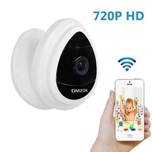 DMZOK-720P-Mini-Wifi-Security-Camera-Remote-View-On-Mobile-App-Motion-Detection-Pet-Camera-Video-Baby-Monitor-No-Night-Vision-No-Speaker-No-SD-Card-Slot720P-White-0