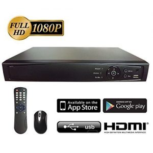 Digital-Surveillance-Recorder-8-Channel-HD-TVI-1080p-H264-True-HD-DVR-with-Pre-Installed-1-TB-Hard-Drive-Playback-Internet-Mobile-Phone-Accessible-HDMI-TVIAnalogIP-Smart-Recording-Real-Time-for-CCTV-C-0