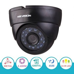 HIS-VISION-1200TVL-13-Color-CCD-Indoor-Dome-Security-Camera24-IR-LEDs-150ft-Night-Vision-CCTV-Camera-w-IR-CUT-36mm-Lens-100Degree-Wide-Angle-Video-Surveillance-CameraMetal-Casing-0