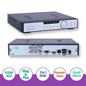HIS-VISION-4CH-1080N-AHD-DVR-960H720P-Realtime-Digital-Recorder-Video-Surveillance-SystemHybrid-NVRAHDDVR-3-in-1-Cloud-DVR-Motion-Detection-P2P-QR-Scan-Phone-Remote-Access-HDMI-VGA-Output-NO-HDD-0
