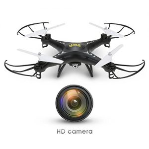 Holy-Stone-HS110W-FPV-Drone-with-720P-HD-Live-Video-Wifi-Camera-24GHz-4CH-6-Axis-Gyro-RC-Quadcopter-with-Altitude-Hold-Gravity-Sensor-and-Headless-Mode-Function-RTF-Color-Black-0