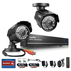 Sannce-4CH-Full-960H-Realtime-CCTV-DVR-Video-Surveillance-Recorder-with-2x-800TVL-Night-Vision-Weatherproof-Outdoor-Bullet-Cameras-P2P-Cloud-Remote-Viewing-Motion-Detection-NO-HDD-0