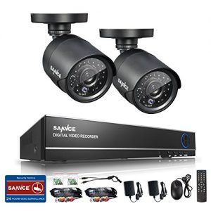 Sannce-8-Channel-Full-960H-Realtime-CCTV-DVR-Video-Surveillance-Recorder-with-2-800TVL-Night-Vision-Weatherproof-IndoorOutdoor-Bullet-Cameras-P2P-Cloud-Remote-Viewing-Motion-Detection-NO-HDD-0