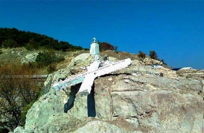 "Large Cross Monument On Greek Island Torn Down By Leftist Loons Because It Could Be ""Offensive"" To The Illegal Alien Invaders"